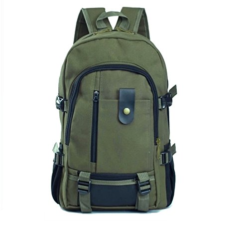 Aeoss Fashion Shoulder Strap Solid Zipper Canvas Backpack