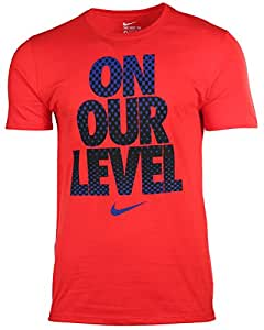 Nike Men's On Our Level Graphic T-Shirt-Red-Large