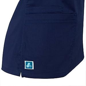 Adar Pop-Stretch Junior Fit Mock Wrap Tie Top - 3210 - Teal Green - S