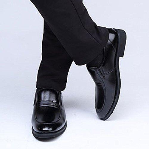 OEMPD Chaussures D'Affaires Formelles pour Hommes Cuir pour Hommes Ensembles de Pieds Chaussures Chaussures de Mariage Black JLyM4