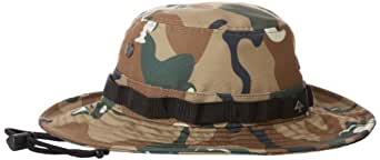 LRG Men's Lifted Boonie Hat, Khaki Wolf Camo, One Size