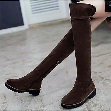leather Black Gll Beige Fashion Brown 2in Boots 3 4in Casual Women's Comfort Black Nubuck Boots amp;xuezi Winter 2 AqA8rv