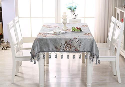 A 110160CM Table de salon haut de gamme de luxe est nappe rectangulaire table ronde table à hommeger accueil hôtel conférence nappe (Couleur   A, taille   110  160CM)