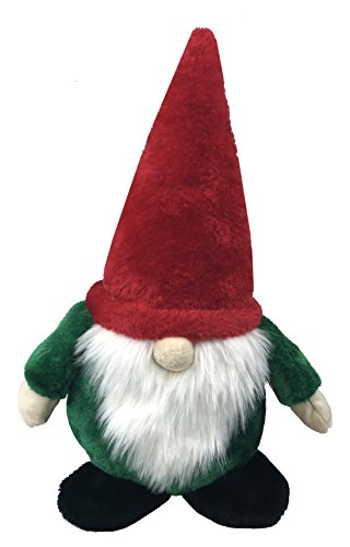 Petlou Holiday Plush GNOME Pet Toys for Dogs and Cats with Multi-Squeak and Crinkle in Different Size (Red Green 2, 19-Inch CHR Gnome) ()