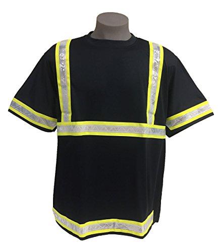 Incentex Safety Gear Mens Mesh Reflective T-Shirt Navy/Green X-Large