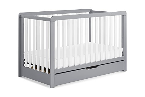 Carter's by Davinci Colby 4-in-1 Convertible Crib with Trundle Drawer, Grey and White ()