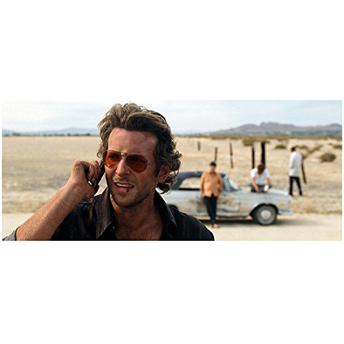 The Hangover Bradley Cooper as Phil on the his Cellphone in the Desert with Mr. Chow in the Background 8 x 10 - Phil Hangover On