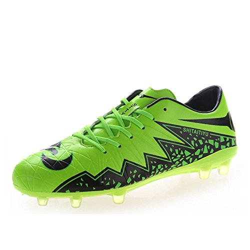 Yilaiyiqu_1 Popular Men's Performance Soccer Cleat Athletic Trainer Turf Football Shoes Green9 D(M) US Fahion cycle (Football Cleats High Tops Cheap)