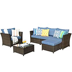 Garden and Outdoor XIZZI Patio Furniture,PE Rattan Wicker Outdoor Furniture,with Patio Furniture Covers and Pillows, No Assembly Furniture… patio furniture sets