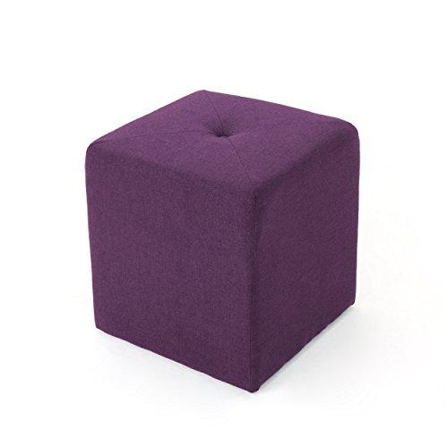 Christopher Knight Home 303842 Cayla Purple Fabric Square Ottoman, (Purple Pouf Ottoman)
