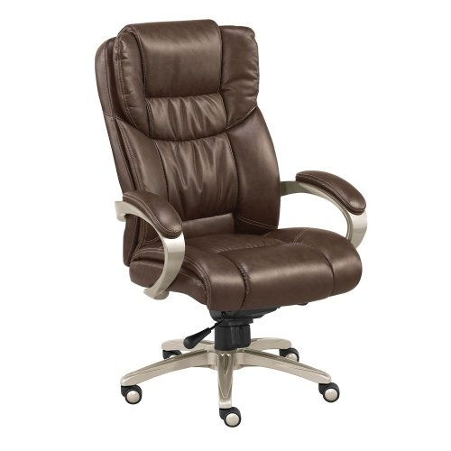 Morgan Executive Faux Leather Chair Savage Cocoa Faux Leather/Mocha Finish (Series Morgan Leather)