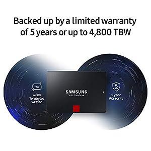Samsung 860 PRO 1TB 2.5 Inch SATA III Internal SSD (MZ-76P1T0BW)