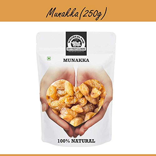 Wonderland Foods Raisins with Seeds King Size Munakka, 250g (B07QG2KC9H) Amazon Price History, Amazon Price Tracker