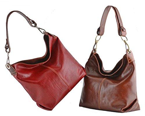 Leather Black Fiorentina Italian Cuoieria Hobo Handbag qwE0nCpa
