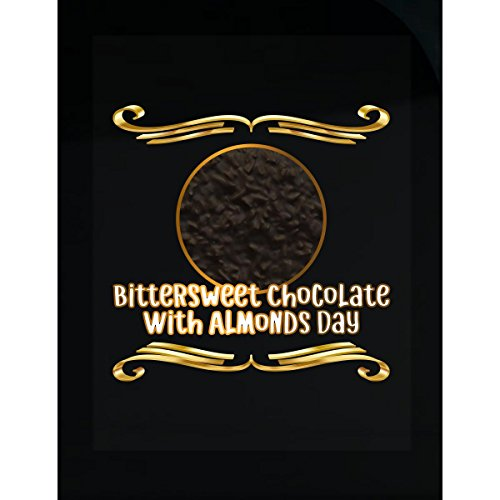 Bittersweet Chocolate With Almonds Day Celebration Memento - (Gift Bittersweet Chocolate)