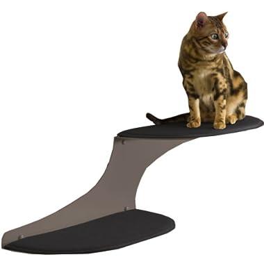The Refined Feline Cat Cloud Cat Shelves in Titanium, Right Facing