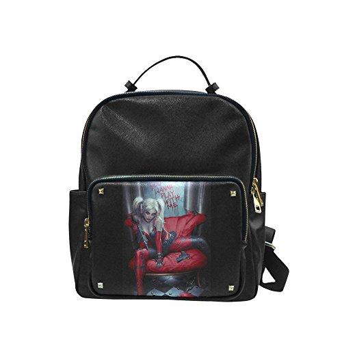 Leisure Backpack Custom Harley Quinn Shoulders Backpack Students School Bag Travel Bag