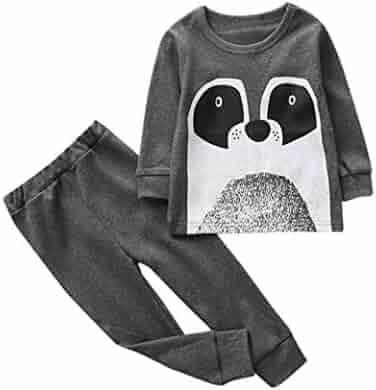27ff0f8147da 2Pc Kids Toddler 5T Girl Boys Outfits Clothes Baby Cartoon T-Shirt Tops+ Pants