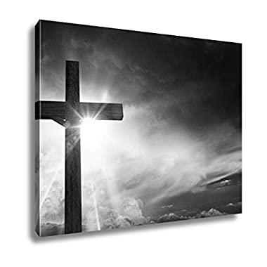 Ashley Canvas Crucifix Blessing Lights, Wall Art Home Decor, Ready to Hang, Black/White, 16x20, AG6046837