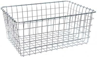 (Wald 1275 Bicycle Basket, 21 x 15 x 9 (Chrome))