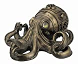 Steampunk Octopus Statue Sculpture Free Stand or Wall Mount