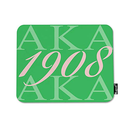 Mugod AKA 1908 Mouse Pad Also Known As Abbreviation Hip Hop Style Pink Green White Mouse Mat Non-Slip Rubber Base Mousepad for Computer Laptop PC Gaming Working Office & Home 9.5x7.9 Inch