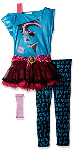 80's Valley Girl Child Costume, Blue, Medium (8-10) (80s Clothes For Girls)