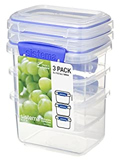 Sistema 1543 Klip It Collection Rectangle Food Storage Container, 13 Ounce (Set of 3) (B001XSM04C) | Amazon price tracker / tracking, Amazon price history charts, Amazon price watches, Amazon price drop alerts