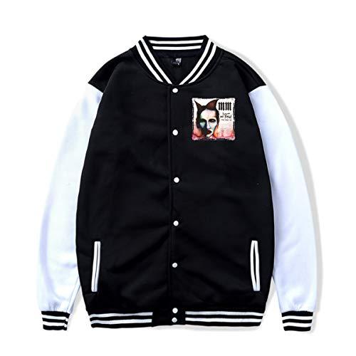 - JohnJPerez Coat Marilyn Manson Unisex Baseball Uniform Jacket Sport Coat Black XXL