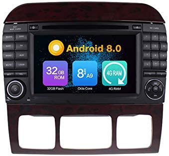 Android 9.0 Stereo DVD 64G ROM Autoradio GPS Navigation Radio for Benz S-W220 S280 S320 S350 S400 S430 S500 1998-2005