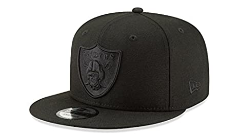 Oakland Raiders New Era Snapback Cap Hat Black on Black 3c8c465e5b0