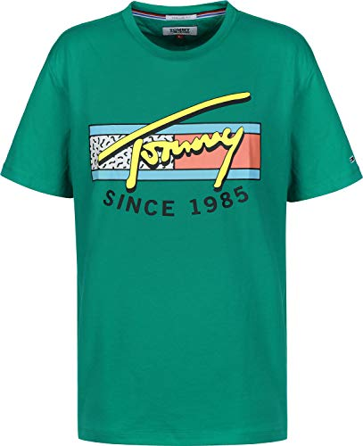 T dynasty Green Tjm Jeans Tommy Neon Homme Script 399 Grün Tee shirt XwxTX1S