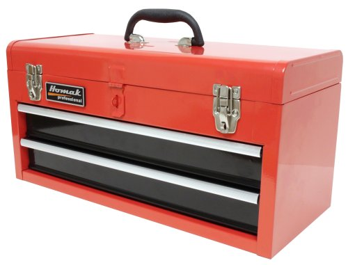 (Homak 20-Inch 2-Drawer Ball-Bearing Toolbox/Chest, Red, RD01022001)