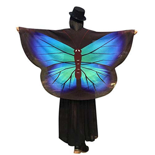 iDWZA Women's Party Butterfly Wings Shawl Loose Kimono Cardigan Top Cosplay Costume(160140cm/6355.1