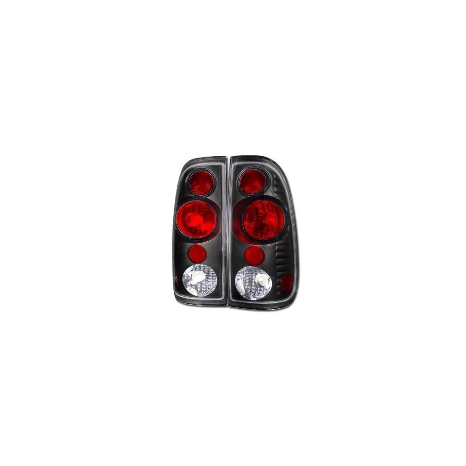 Topline Autopart Euro Black Altezza Tail Lights Rear Brake Lamps Ks 97 99 03 F150 F250 Styleside