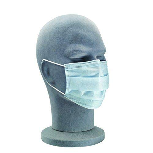Universal Uniprotect Air Procedure Face Mask with Earloops, Blue, Pack of 50