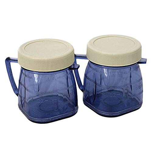 Mini 1-cup Plastic Jar for Oster Blender ((2) Pieces) (Small Jar Blender)