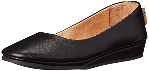 Zeppa Féminin Unique Slip Sur Chaussures Noir Nappa