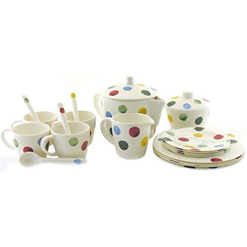 Emma Bridgewater Polka Dot Melamine In House Tea Set, Multi-Colour, 250 x 160 x 200 cm Elite PD5001