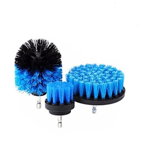 Chrikathy Cleaning Brush Electric Drill Head Set Kit General Purpose Power Scrubber Cleaner Combo Tool Carpet Tile Shower Track for Grout Bathroom Tub (Blue) - Bosch Cordless Hooks