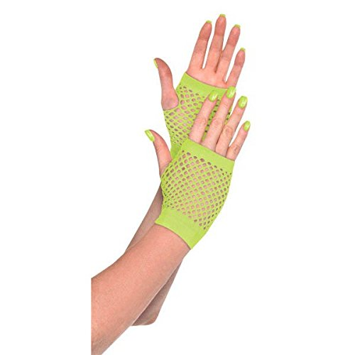 Neon Short Fishnet Gloves, Party Accessory]()
