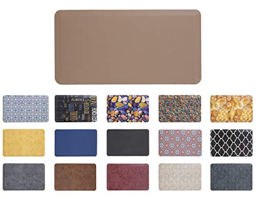 - Mabel Home Anti Fatigue Floor Mat- 3 Size(20x32 & 20x39 & 24x70),16 Colors - Standing Desk Mat-Kitchen Floor Mat-Stain Resistant-Home Non-Slip Bottom, Extra Soft, (Brown, 20