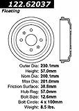 Centric (123.62037) Brake Drum