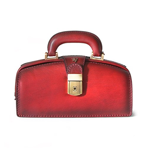 Pratesi Womens Italian Leather Handbag Lady Brunelleschi Bruce in Cow Leather in Chianti
