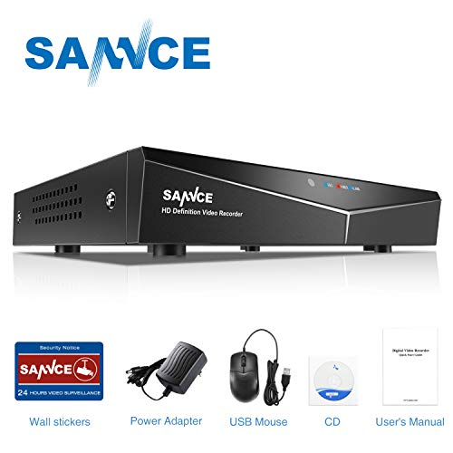 SANNCE 16CH 1080N DVR Recorder with Email Alert and Motion Detect Function, 1080p HDMI Ouput, NO HDD and Camera Included