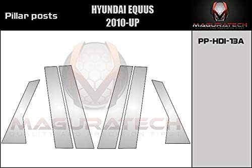 Covers for Hyundai EQUUS 2010 2011 2012 2013 2014 2015 2016 2017 2018 2019-6 Pieces AUTOCARIMAGE Stainless Steel Pillar Posts B Pillars