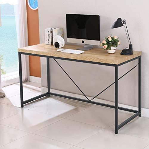 YOLENY Computer Desk 55″ Large Office Desk Modern Simple StyleComputer Table Study Writing Desk