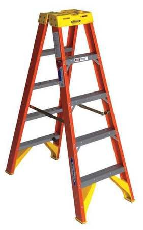 Werner T6205 300-Pound Duty Rating Type IA Twin Stepladder, 5-Foot