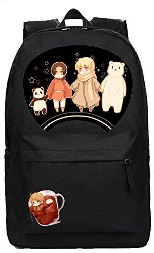 YOYOSHome Anime Axis Powers Hetalia Cosplay Daypack Shoulder Bag Backpack School Bag by YOYOSHome