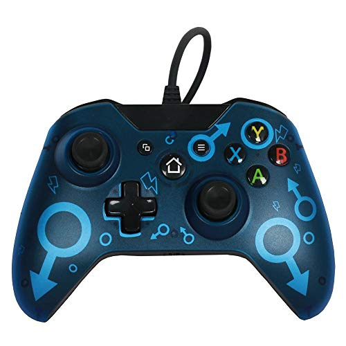 Starnearby Wired USB Controller USB Wired Game Controller Gamepad Joystick for Xbox One Slim Controller